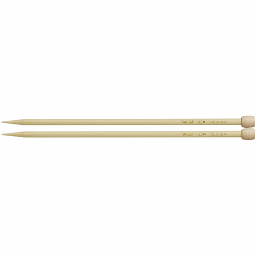 Clover Bamboo Knitting Needles - 23cm x 6.5mm - The Village Haberdashery