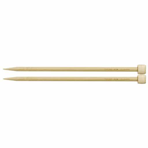 Clover Bamboo Knitting Needles - 23cm x 8mm - The Village Haberdashery