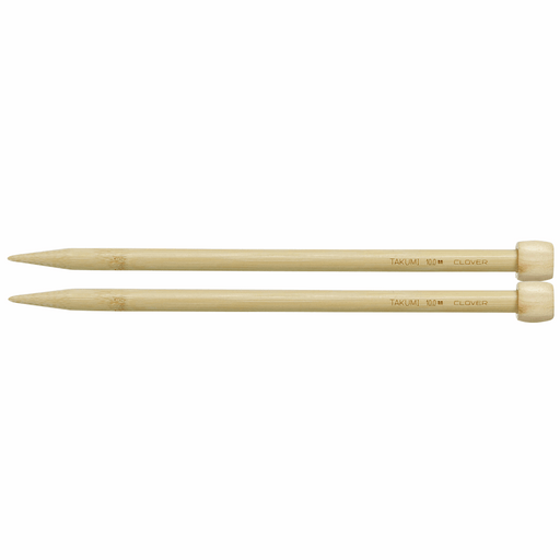 Clover Bamboo Knitting Needles - 23cm x 10mm - The Village Haberdashery
