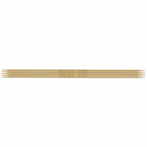 Clover Bamboo Double Pointed Knitting Needles - 16cm x 2.25mm - The Village Haberdashery