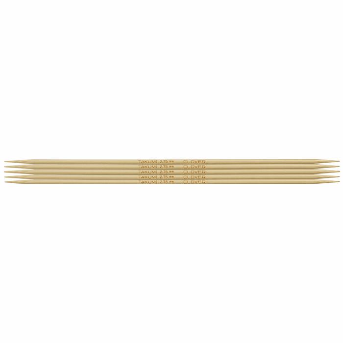 Clover Bamboo Double Pointed Knitting Needles - 16cm x 2.75mm - The Village Haberdashery