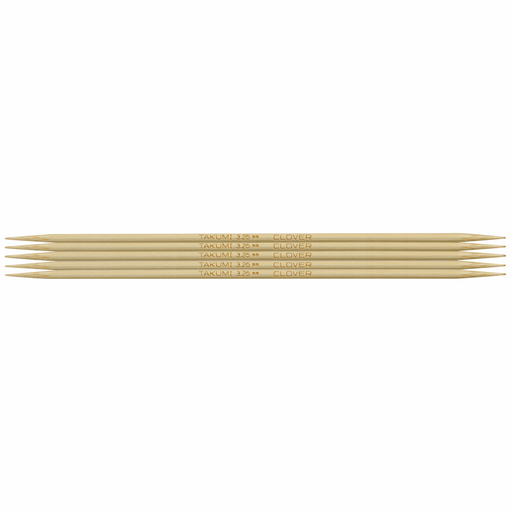 Clover Bamboo Double Pointed Knitting Needles - 16cm x 3.25mm - The Village Haberdashery