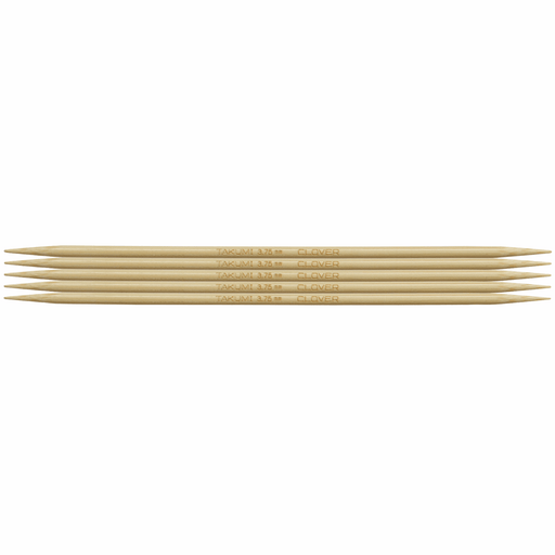 Clover Bamboo Double Pointed Knitting Needles - 16cm x 3.75mm - The Village Haberdashery