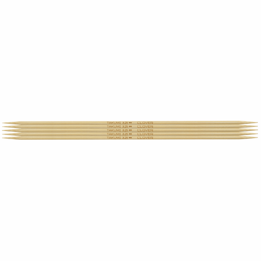 Clover Bamboo Double Pointed Knitting Needles - 20cm x 3.25mm - The Village Haberdashery