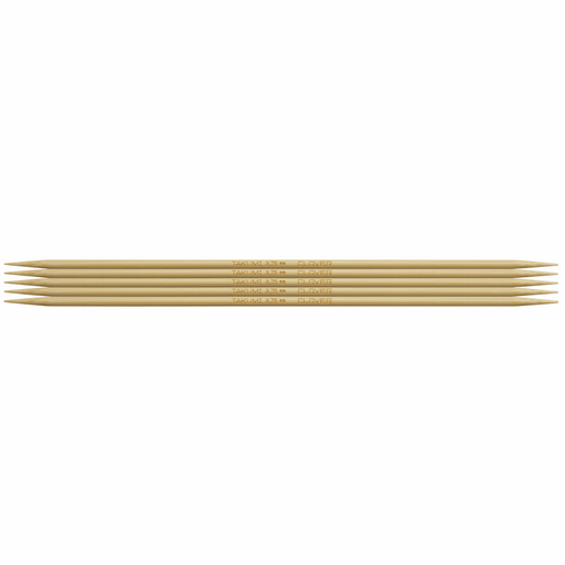Clover Bamboo Double Pointed Knitting Needles - 20cm x 3.75mm - The Village Haberdashery