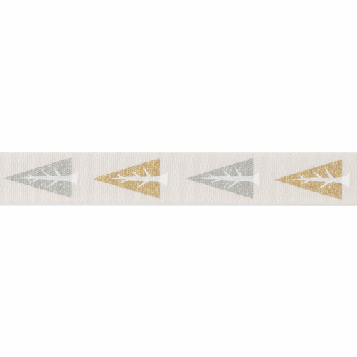 Metallic Scandi Trees Ribbon - 15mm - The Village Haberdashery