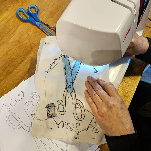 Freehand Machine Embroidery with Sophia Palmer - The Village Haberdashery