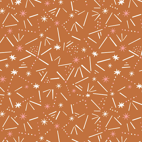 Dashwood Ditsies - Sticks & Stars in Ginger - The Village Haberdashery