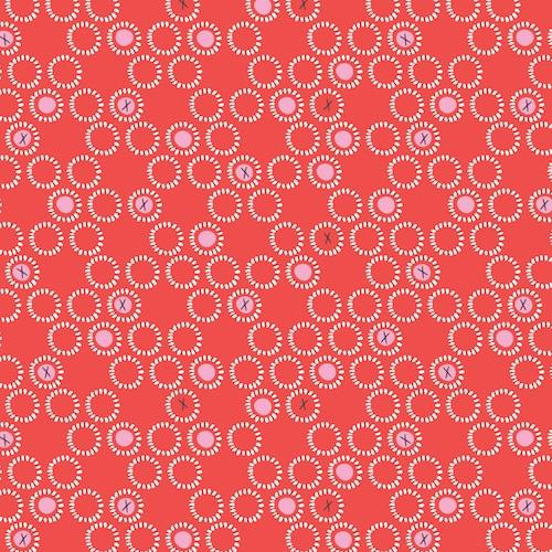 Dashwood Ditsies - Circles in Lipstick - The Village Haberdashery