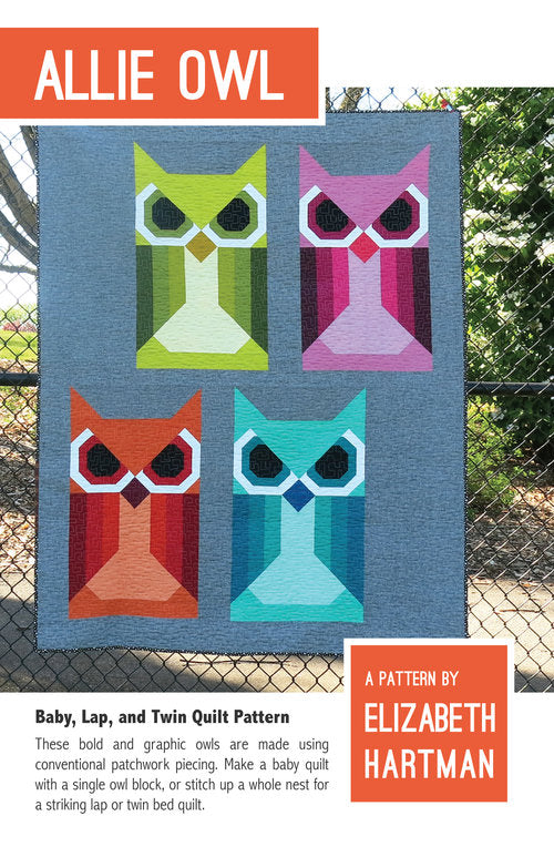 Elizabeth Hartman - Allie Owl Quilt Pattern - The Village Haberdashery