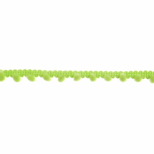 Mini Pom Pom Trim - Lime Green - 7mm - The Village Haberdashery