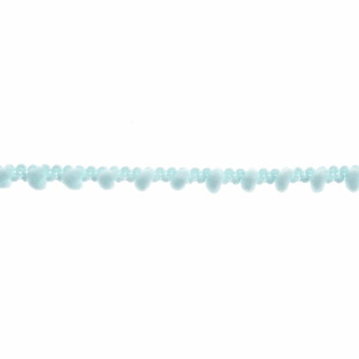 Mini Pom Pom Trim - Light Blue - 7mm - The Village Haberdashery
