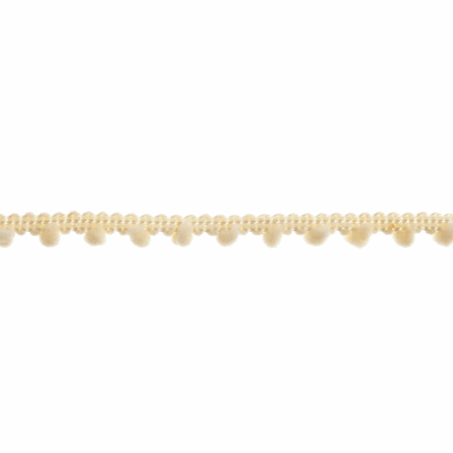 Mini Pom Pom Trim - Cream - 7mm - The Village Haberdashery