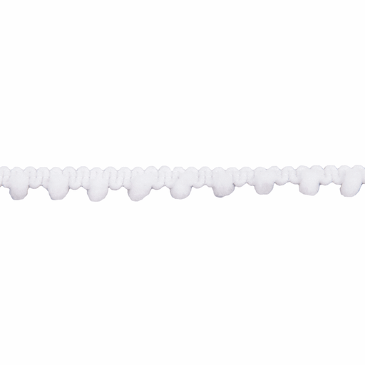 Mini Pom Pom Trim - White - 7mm - The Village Haberdashery