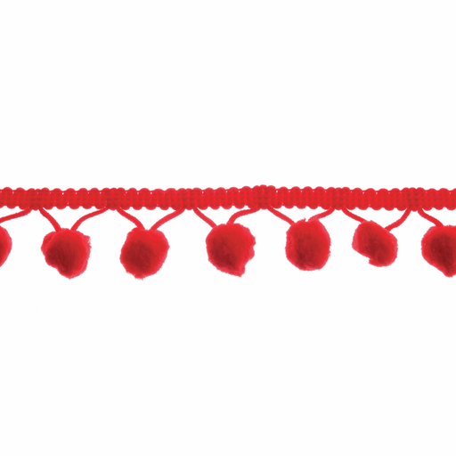 Pom Pom Trim - Red - 20mm - The Village Haberdashery