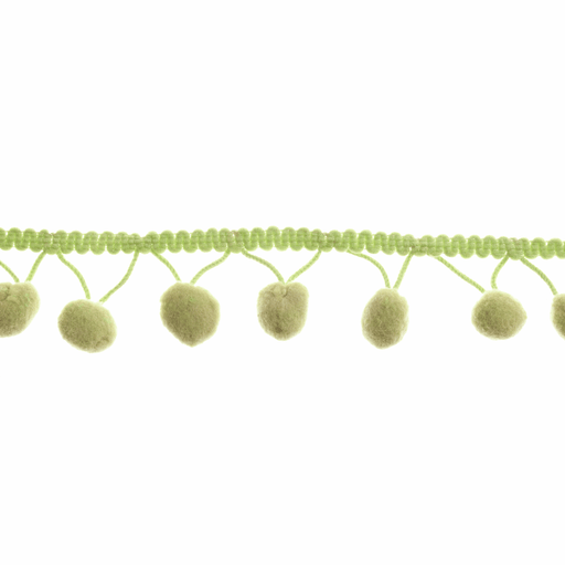 Pom Pom Trim - Green - 20mm - The Village Haberdashery