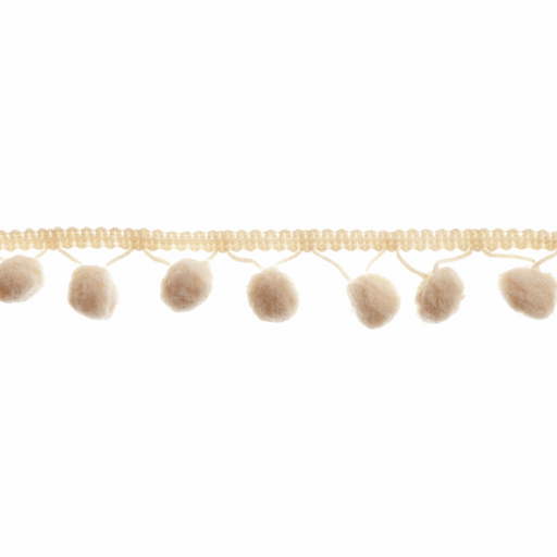 Pom Pom Trim - Cream - 20mm - The Village Haberdashery