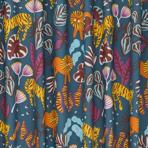 Dusk Big Cats Organic Cotton from Wild by Ellie Whittaker - The Village Haberdashery