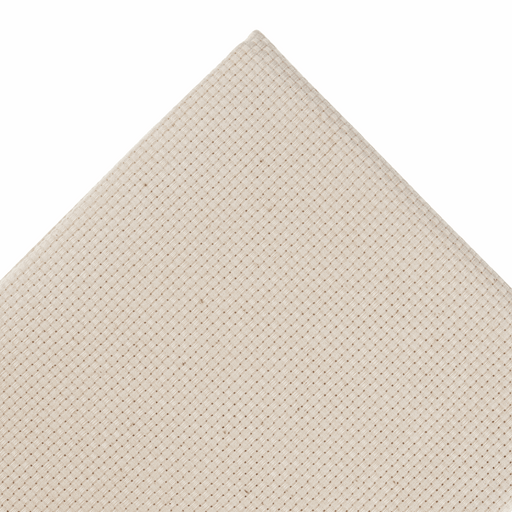 Monk's Cloth - 9 Count in Cream- 50cm Remnant - The Village Haberdashery