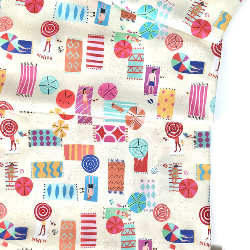 Beach View Cotton from Lazy Days by Louise Cunningham - The Village Haberdashery