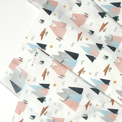 Blush Mountain Skies Cotton from Summer Skies by Aljit Emmens for Cotton + Steel - The Village Haberdashery