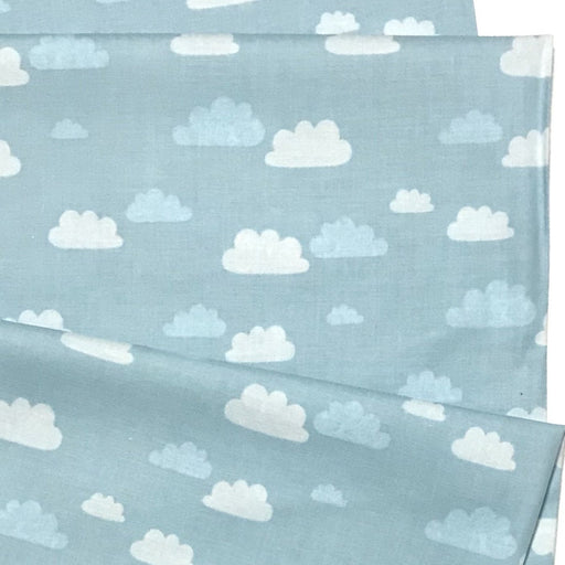 Sky Blue Clouds Cotton from Summer Skies by Aljit Emmens for Cotton + Steel - The Village Haberdashery
