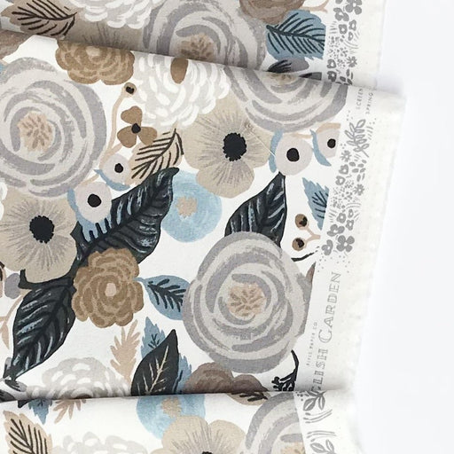 Linen Juliet Rose Linen Canvas from Garden Party by Rifle Paper Co for Cotton + Steel - The Village Haberdashery