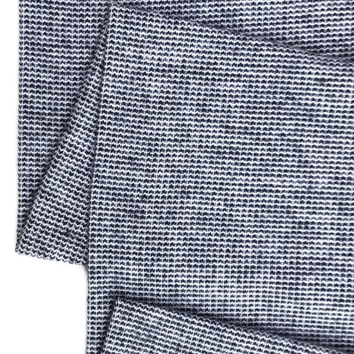 Navy Textured Recycled Jacquard Jersey - The Village Haberdashery