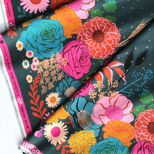 Peacock Shine Double Border Cotton from Rise by Melody Miller for Ruby Star Society - The Village Haberdashery