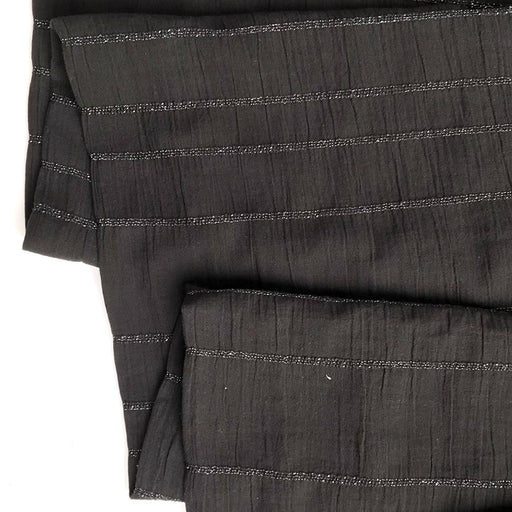 Black Smocked Woven Cotton - The Village Haberdashery