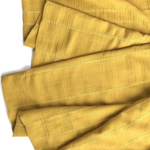 Ochre Smocked Woven Cotton - The Village Haberdashery