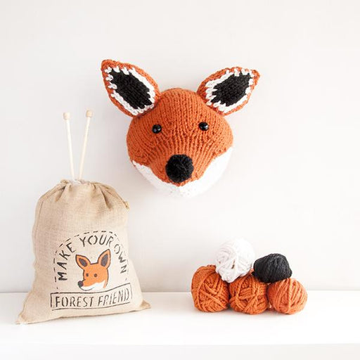 Sincerely Louise Faux Fox Trophy Head Knitting Kit - The Village Haberdashery