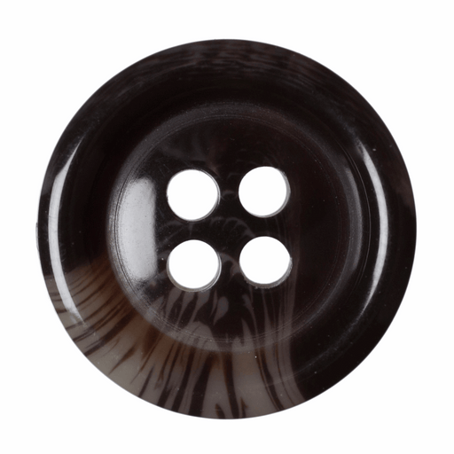 Faux Tortoise Shell Buttons - Brown - 15mm - The Village Haberdashery