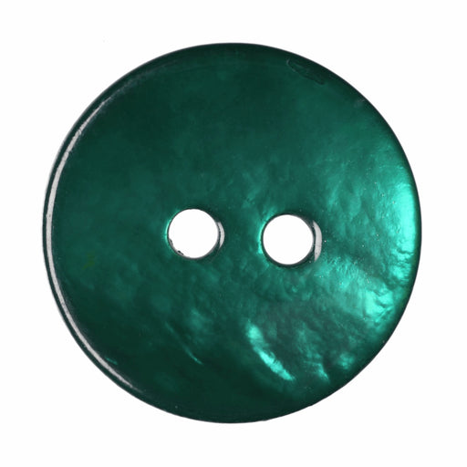 Turquoise Agoya Shell Buttons - 15mm - The Village Haberdashery