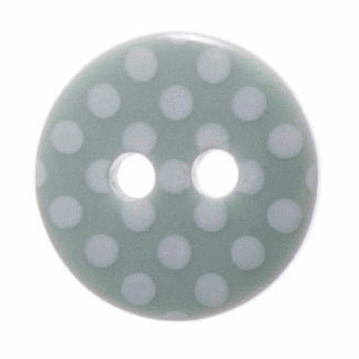 Spotty Buttons - Mint & White - 12mm - The Village Haberdashery