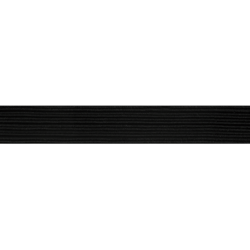 Braided Elastic - Black, 3mm - Per Metre - The Village Haberdashery
