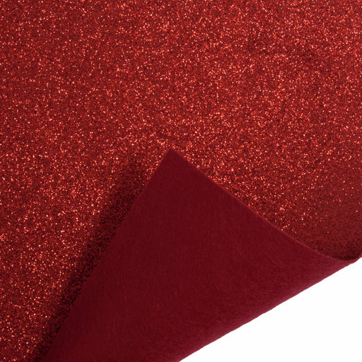 Crafts - Felt Roll - Red Glitter