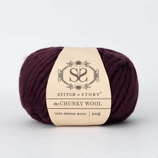 Stitch & Story The Chunky Wool - Rich Plum - 17 - The Village Haberdashery