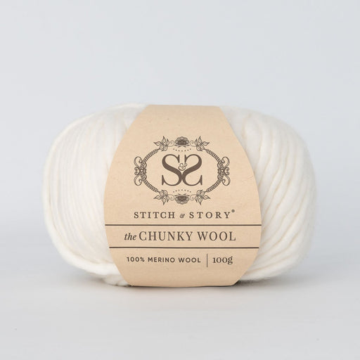 Stitch & Story The Chunky Wool - Pure White - 20 - The Village Haberdashery