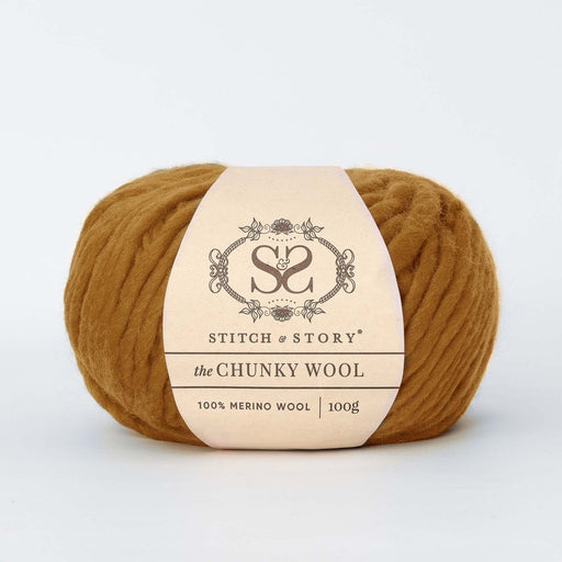 Stitch & Story The Chunky Wool - Golden Brown - 27 - The Village Haberdashery