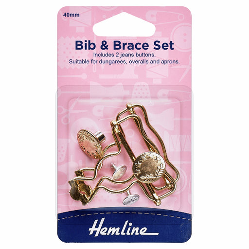 Bib and Brace Set: Gold: 40mm - The Village Haberdashery