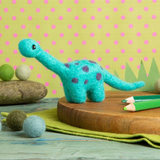 Mini Diplodocus Needle Felting Kit - The Village Haberdashery