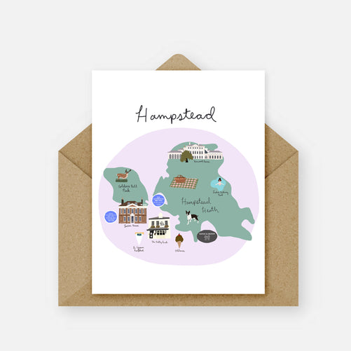 'Hampstead' Card by London Block by Block - The Village Haberdashery