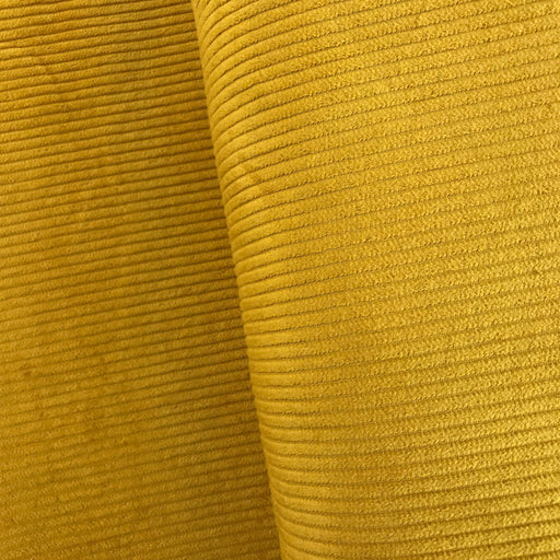Mustard 4.5 Wale Washed Cotton Corduroy - The Village Haberdashery
