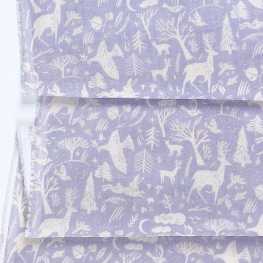 Lilac Winter Forest Double Gauze - The Village Haberdashery