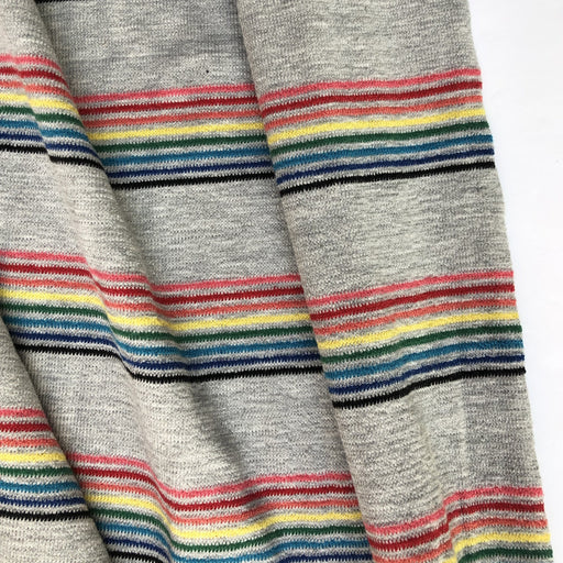 Retro Rainbow & Grey Stripe Jersey - The Village Haberdashery