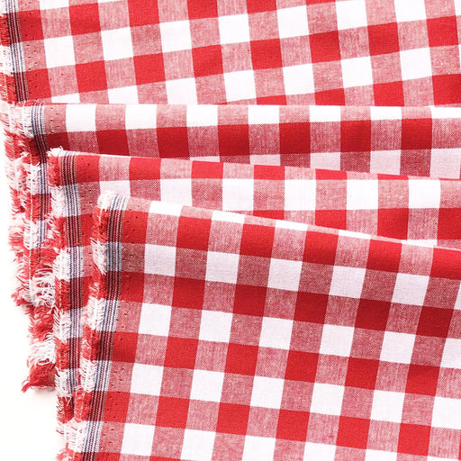 "Red 1/2"" Cotton Gingham from Checkers by Cotton and Steel - The Village Haberdashery"