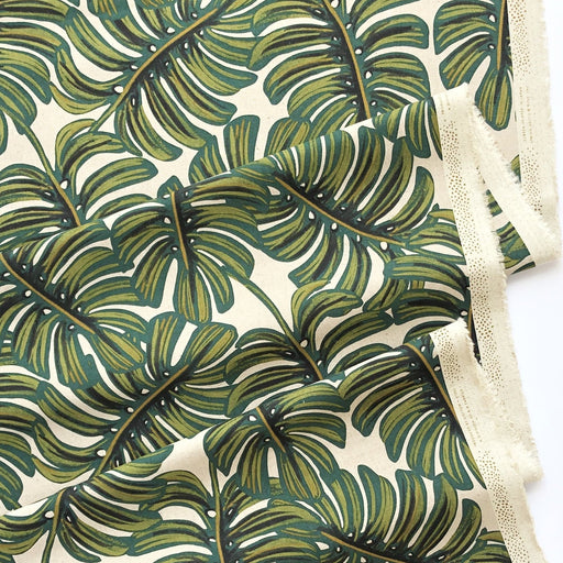 Monstera Canvas from Menagerie by Rifle Paper Co for Cotton + Steel - The Village Haberdashery