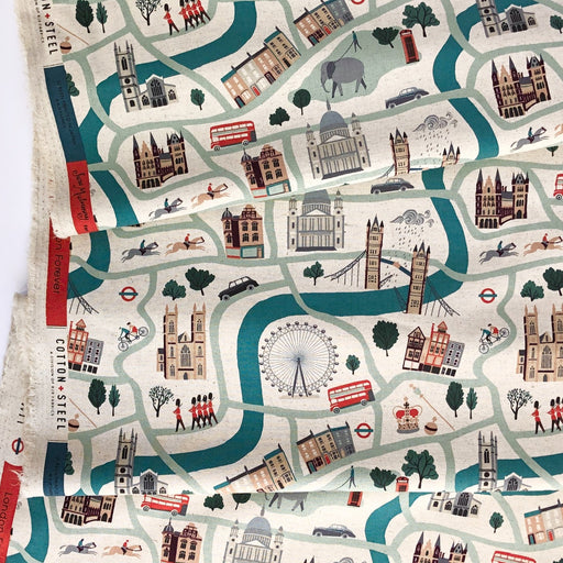 London Forever Canvas from London Town by Sara Mulvanny for Cotton + Steel - The Village Haberdashery