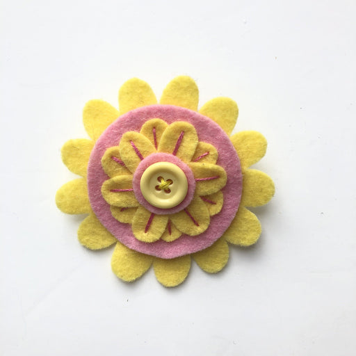 Handmade Floral Brooches - The Village Haberdashery